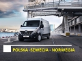 Przewóż paczek polska-szwecja-norwegia